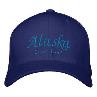 Alaska, Great Land Embroidered Baseball Cap