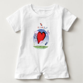 alaska head heart, tony fernandes baby bodysuit