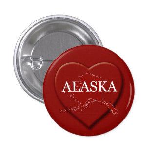 Alaska Heart Map Design Button
