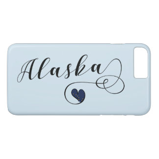 Alaska Heart Mobile Phone Case, Alaskan iPhone 8 Plus/7 Plus Case