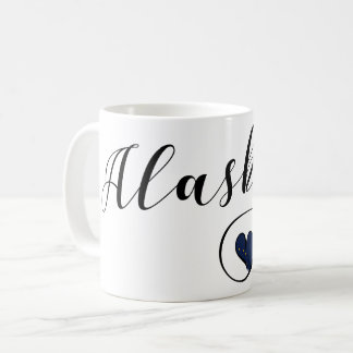 Alaska Heart Mug, Alaskan Flag Coffee Mug