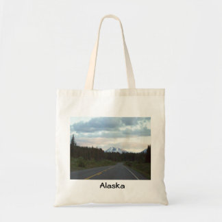 Alaska Highway sunrise Tote Bag