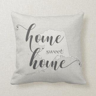 Alaska - Home Sweet Home burlap-look Cushion