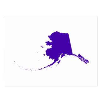 Alaska in Purple Postcard