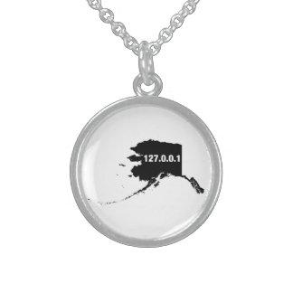 Alaska Is Home Programmer Sterling Silver Necklace