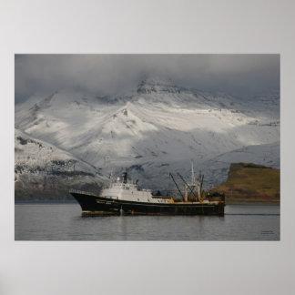 Alaska Juris, Fishing Trawler in Dutch Harbor, Ala Poster