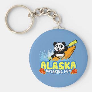Alaska Kayaking Fun Panda Key Ring