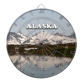 Alaska: Lake reflections of mountains Dartboard