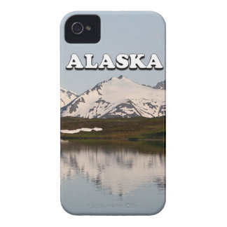 Alaska: Lake reflections of mountains iPhone 4 Covers