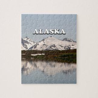 Alaska: Lake reflections of mountains Jigsaw Puzzle