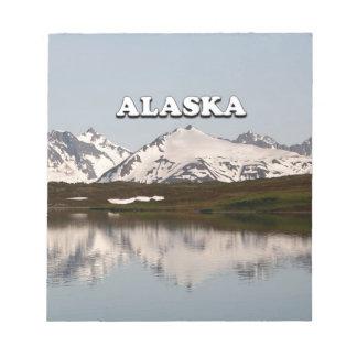 Alaska: Lake reflections of mountains Notepad