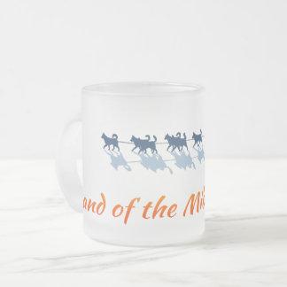 Alaska. Land of the Midnight Sun - Color Logo Frosted Glass Coffee Mug