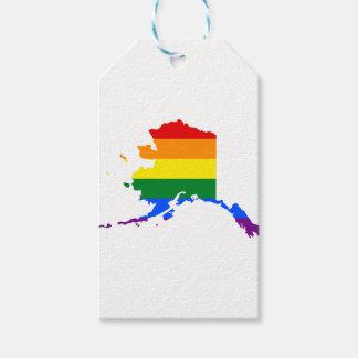 Alaska LGBT Flag Map Gift Tags