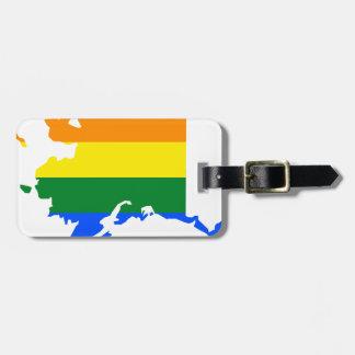 Alaska LGBT Flag Map Luggage Tag