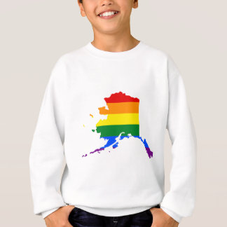Alaska LGBT Flag Map Sweatshirt