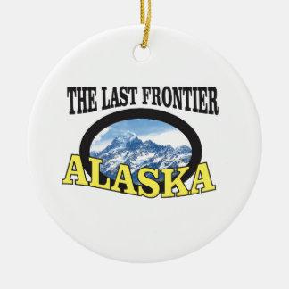 alaska logo art ceramic ornament