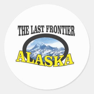 alaska logo art classic round sticker