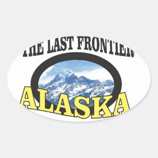 alaska logo art oval sticker