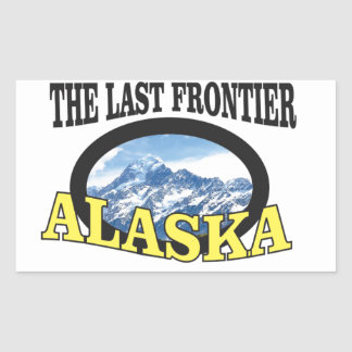 alaska logo art rectangular sticker