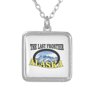 alaska logo art silver plated necklace