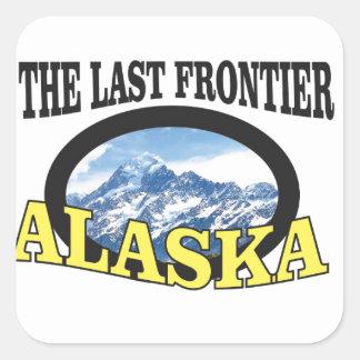 alaska logo art square sticker