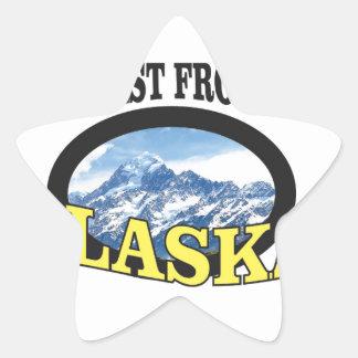 alaska logo art star sticker
