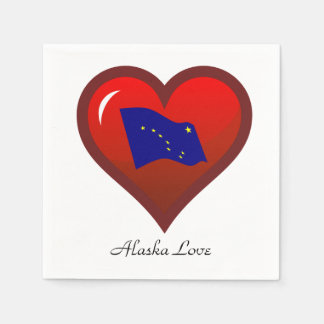 Alaska Love Disposable Napkins