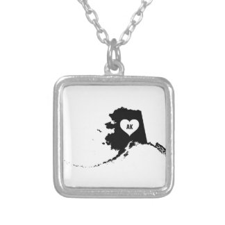 Alaska Love Silver Plated Necklace