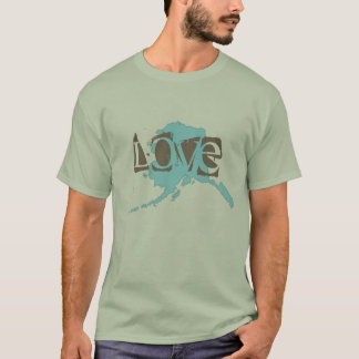 Alaska map with love T-Shirt