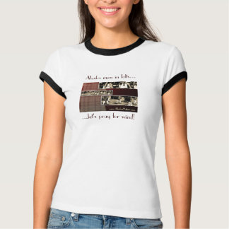 Alaska men in kilts - ringer t-shirt