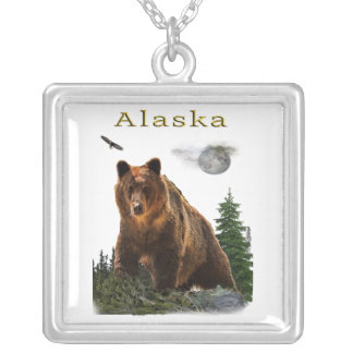 Alaska merchandise silver plated necklace
