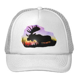 Alaska Moose Sillouette Mesh Hat