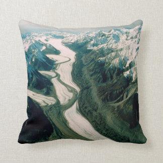 Alaska Mountain Range-Aerial View Cushion
