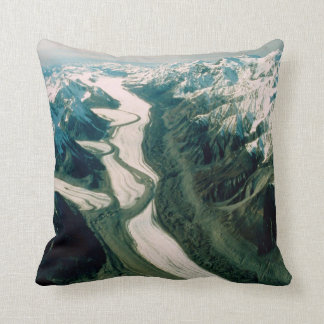 Alaska Mountain Range-Aerial View Throw Pillow