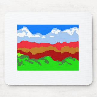 Alaska mountain Terrain, beautiful painted ! Mouse Pad