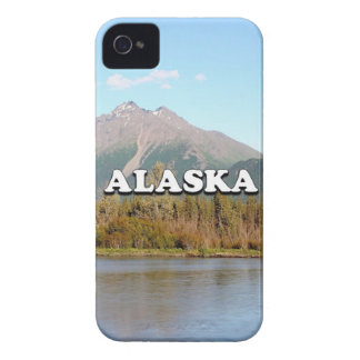 Alaska: mountains, forest and river, USA iPhone 4 Cover