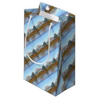 Alaska: mountains, forest and river, USA Small Gift Bag