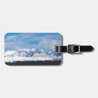 Alaska mountains luggage tag