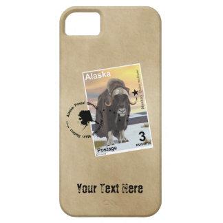 Alaska Muskox Postage Stamp Souvenir iPhone 5 Cases