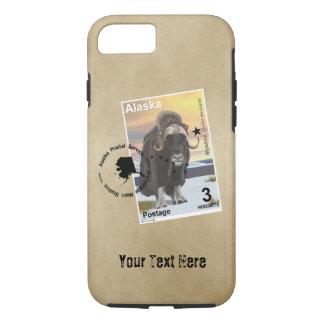 Alaska Muskox Postage Stamp Souvenir iPhone 7 Case