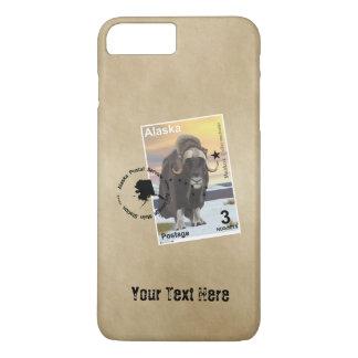 Alaska Muskox Postage Stamp Souvenir iPhone 7 Plus Case