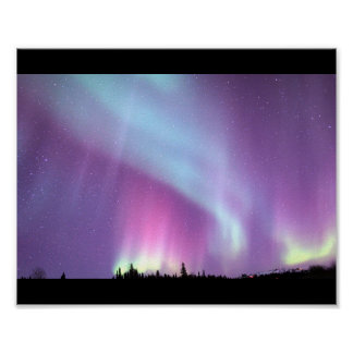 Alaska Northern Lights Sky Night Beautiful Poster