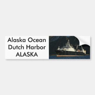 Alaska Ocean, Factory Trawler in Dutch Harbor, AK Car Bumper Sticker