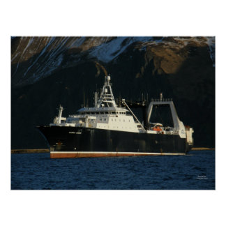 Alaska Ocean, Factory Trawler in Dutch Harbor, AK Poster