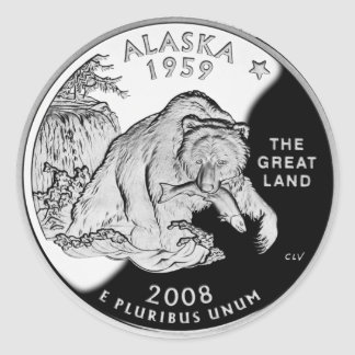 Alaska Proof 2008 (pack of 6/20) Classic Round Sticker