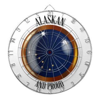 Alaska Proud Flag Button Dartboard