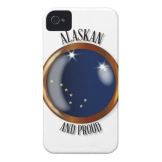 Alaska Proud Flag Button iPhone 4 Case-Mate Case