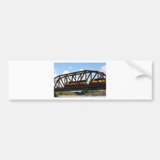 Alaska Railroad locomotive engine & bridge Bumper Sticker