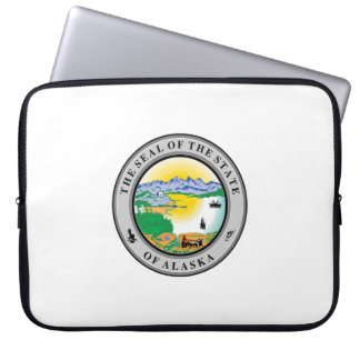 Alaska seal united states america flag symbol repu laptop sleeve