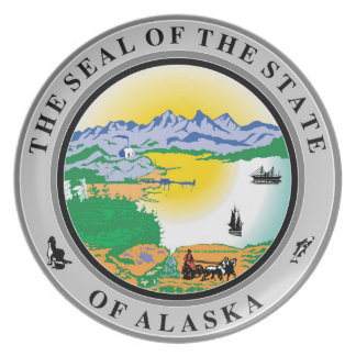 Alaska seal united states america flag symbol repu plate